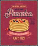 Vintage Pancakes Poster. Royalty Free Stock Image