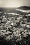 Vintage panorama of Kazimierz Dolny Stock Images