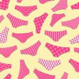 Vintage Panty Seamless Pattern Stock Image