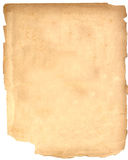 Vintage Paper. A piece of vintage, brittle paper that is falling apart for artists and designers to use in their creations Stock Photography