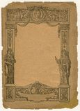 Vintage paper. Old brown paper with illustration Stock Photo