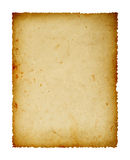 Vintage paper. Old paper isolated on white background, clipping path Royalty Free Stock Photos