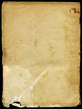 Vintage Paper. With grainy rough surface - isolated on black Royalty Free Stock Photography
