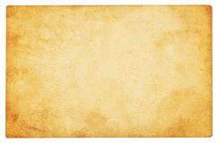 Free Vintage Paper Background Isolated Royalty Free Stock Images - 175265019