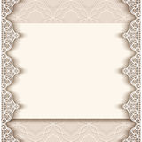 Vintage paper background with lace borders Stock Photography