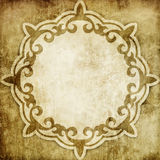 Vintage paper background with shabby ornament Stock Images