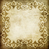 Vintage paper background with shabby ornament Royalty Free Stock Photos
