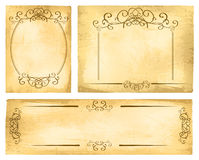 Vintage Paper Border Set Stock Photo