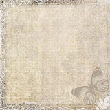 Vintage paper with butterfly Royalty Free Stock Photos