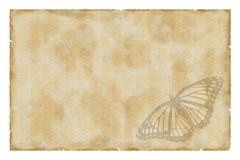Vintage paper with butterfly Royalty Free Stock Photo