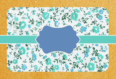 Vintage paper card with flowers pattern Stock Images