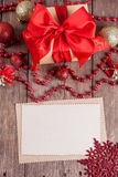 Vintage paper with christmas decoration Royalty Free Stock Image