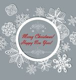 Vintage paper christmas frame Stock Photography