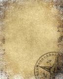 Vintage paper with compass Royalty Free Stock Image