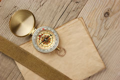 Vintage paper with compass Stock Photography