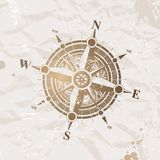 Vintage paper with compass rose royalty free illustration