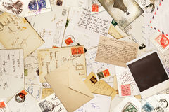 Vintage paper for correspondance background stock photography