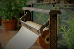 VINTAGE PAPER CUTTER Royalty Free Stock Photo