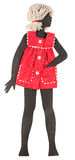 Vintage paper doll Stock Photos