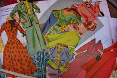Vintage paper dolls Stock Photography