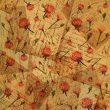 Vintage paper with flowers. Background for scrapbooking - love letters Royalty Free Stock Photo