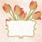 Vintage paper flowers template. EPS 10 Stock Images