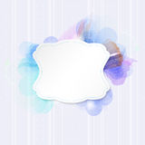 Vintage paper frame on abstract flower background Stock Photos