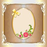 Vintage paper frame with floral ornament Royalty Free Stock Photography
