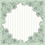 Vintage paper frame with floral pattern for use in your design. Stock Image