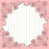 Vintage paper frame with floral pattern Stock Image