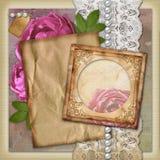 Vintage paper frame  on vintage background Royalty Free Stock Image
