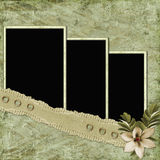 Vintage paper with frames royalty free illustration