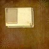 Vintage paper with grunge frames for photos Stock Photos