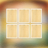 Vintage paper with grunge frames for photos Royalty Free Stock Image
