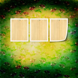 Vintage paper with grunge frames for photos Stock Photo