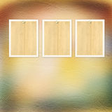 Vintage paper with grunge frames for photos Royalty Free Stock Images