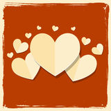 Vintage paper heart valentine day card. Abstract background Royalty Free Stock Photography