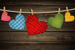 Vintage paper hearts Royalty Free Stock Image