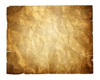 Vintage paper isolated with clipping path Royalty Free Stock Photography