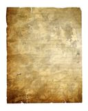 Vintage paper isolated with clipping path Royalty Free Stock Images