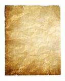 Vintage paper isolated with clipping path Royalty Free Stock Photos