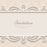 Vintage paper lace background Royalty Free Stock Image