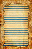 Vintage Paper with Lines Royalty Free Stock Photo