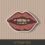 Vintage paper lips Stock Images