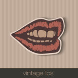 Vintage paper lips Royalty Free Stock Photo