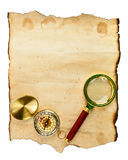Vintage paper for map or message Royalty Free Stock Photo