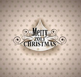 Vintage Paper Merry Christmas Background Stock Photos