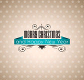 Vintage Paper Merry Christmas Background Royalty Free Stock Photo