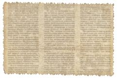 Vintage paper with old newspaper texture. Background royalty free stock photography