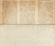 Vintage paper on the old newspaper texture Stock Image
